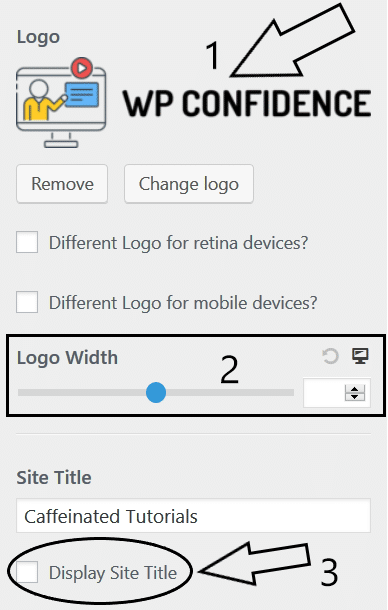 Step 5 - astra logo settings