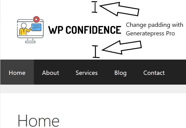 Step 5 - generatepress logo example